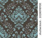 vector damask seamless pattern... | Shutterstock .eps vector #1028098930