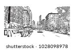 downtown of west side new york... | Shutterstock .eps vector #1028098978