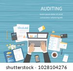 auditing concepts. businessman... | Shutterstock .eps vector #1028104276
