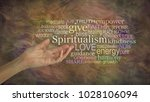 the meaning of spiritualism... | Shutterstock . vector #1028106094