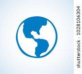 glob orb round hemisphere shape ...   Shutterstock .eps vector #1028106304