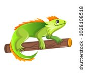 beautiful funny cartoon green... | Shutterstock .eps vector #1028108518