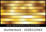 gold gradient set background... | Shutterstock .eps vector #1028112463
