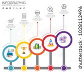 5 parts infographic design... | Shutterstock .eps vector #1028112496