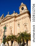 view of naxxar parish church ... | Shutterstock . vector #1028112706