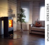 Modern wood burning stove...