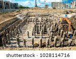 concrete building construction... | Shutterstock . vector #1028114716