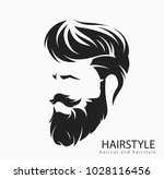 mens hairstyle and hirecut with ... | Shutterstock .eps vector #1028116456