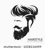mens hairstyle and hirecut with ... | Shutterstock .eps vector #1028116459