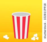 popcorn round box standing on... | Shutterstock . vector #1028119918