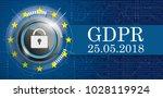 banner with bits  dlock  eu... | Shutterstock .eps vector #1028119924