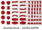red banner ribbon label vector... | Shutterstock .eps vector #1028120098