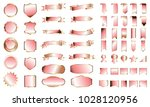 gold rose banner ribbon label... | Shutterstock .eps vector #1028120956