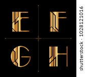 art deco alphabet design... | Shutterstock .eps vector #1028121016