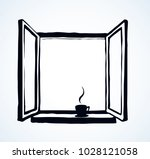 old double pvc sash pane on...   Shutterstock .eps vector #1028121058