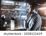 calm glance. attentive calm... | Shutterstock . vector #1028121619