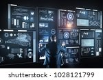 database administrator. calm... | Shutterstock . vector #1028121799