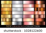 gold silver rose bronze... | Shutterstock .eps vector #1028122600
