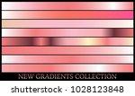 gold rose gradient set... | Shutterstock .eps vector #1028123848
