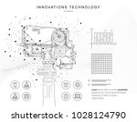 future technologies in cosmos... | Shutterstock .eps vector #1028124790