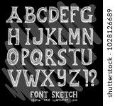 font doodle illustration...   Shutterstock .eps vector #1028126689