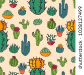 cactus home nature vector... | Shutterstock .eps vector #1028127499
