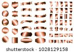 bronze banner ribbon label... | Shutterstock .eps vector #1028129158