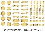 golden label ribbon banner... | Shutterstock .eps vector #1028129170
