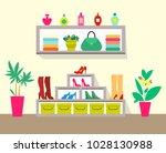 cute store with pretty interior ...   Shutterstock .eps vector #1028130988