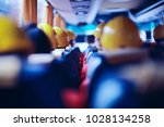 workers  helmets at the factory ... | Shutterstock . vector #1028134258