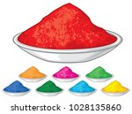 colorful happy holi  | Shutterstock .eps vector #1028135860