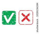 rubber stamp approve and reject ... | Shutterstock .eps vector #1028136184