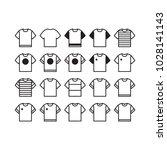 t shirt icon set vector...