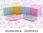 Baby Blocks Handprint And...