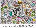 colorful vector hand drawn... | Shutterstock .eps vector #1028142868