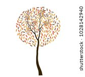 abstract background with autumn ... | Shutterstock .eps vector #1028142940
