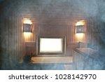 sauna  wooden interior baths ... | Shutterstock . vector #1028142970