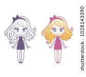 cute vector illustration.... | Shutterstock .eps vector #1028143390