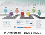 business road map timeline... | Shutterstock .eps vector #1028145328