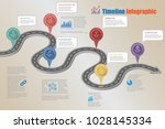 business road map timeline... | Shutterstock .eps vector #1028145334