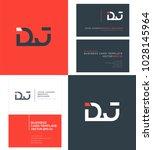 letters d j  d   j joint logo... | Shutterstock .eps vector #1028145964