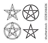 set of pentagram or pentalpha...   Shutterstock .eps vector #1028146636
