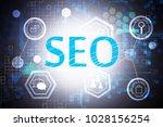 creative digital seo background....   Shutterstock . vector #1028156254
