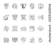 business doodle icons set | Shutterstock .eps vector #1028160046
