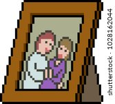vector pixel art couple picture ... | Shutterstock .eps vector #1028162044