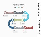 infographic template. vector... | Shutterstock .eps vector #1028163076