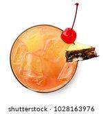 glass of mai tai cocktail... | Shutterstock . vector #1028163976