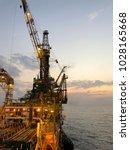 offshore drilling rig | Shutterstock . vector #1028165668