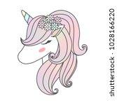 Beautiful Unicorn's Head With...