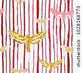 seamless watercolor stripes... | Shutterstock .eps vector #1028168773